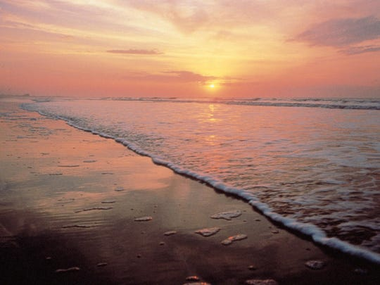 This undated photo provided by the Kiawah Island Golf Resort shows sunrise as seen from Beachwalker Park, Kiawah Island, South Carolina. The beach was listed as No. 8 on the 2015 list of best beaches.