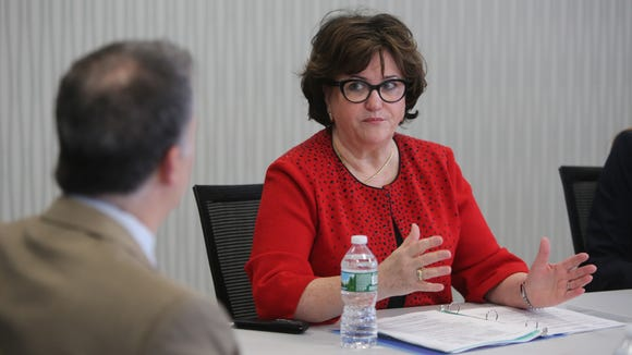 MaryEllen Elia, the New York State Education Commissioner, meets wth The Journal News/lohud.com editorial board, Feb. 23, 2017.