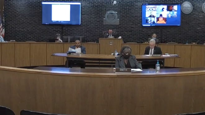 A screenshot from Canton City Council's live stream on YouTube for Sept. 14, 2020.