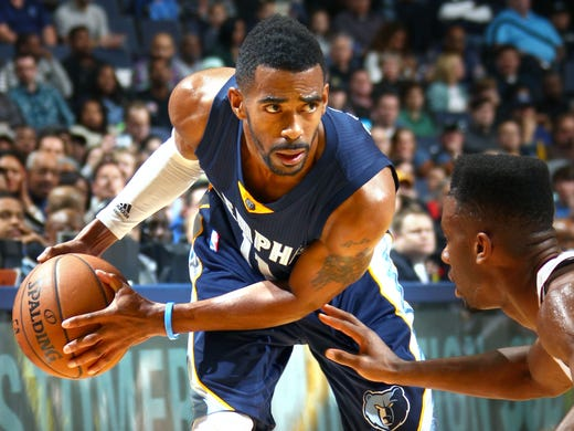 December 7, 2014 -  Memphis Grizzlies Mike Conley against