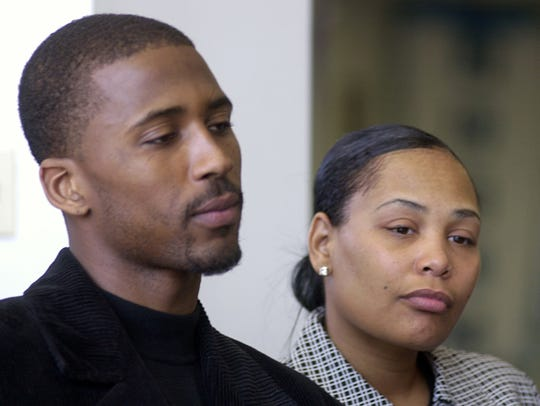 March 3, 2003 -  Lorenzen Wright and his wife Sherra Wright