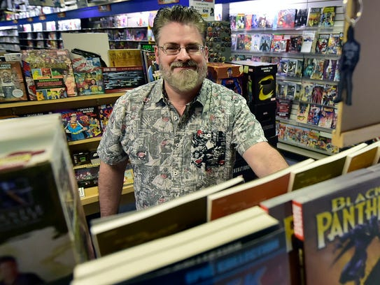 John Mizzer, owner of Comics World, will be moving