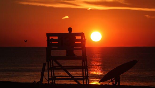 Sunrise over Manasquan.