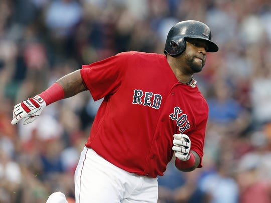 Boston Red Sox third baseman Pablo Sandoval was the 2012 World Series MVP as a member of the San Francisco Giants.