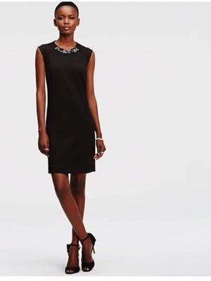 Embellished Neck Dress, $159, AnnTaylor.com.
