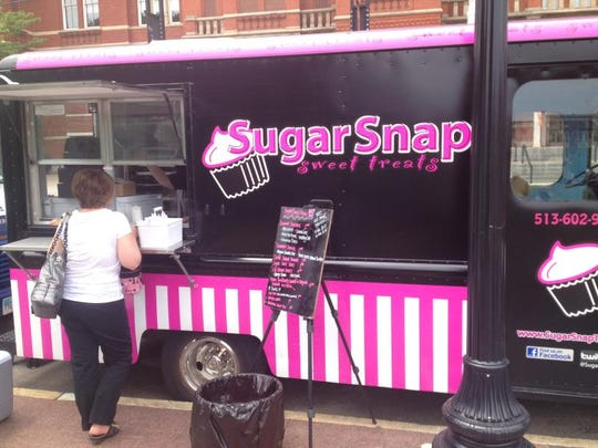 Dessert: Sugar Snap! Sugar Snap!: Cupcakes, cinnamon rolls, pies, frozen cheesecake pops and scones are served out of a pink-striped truck along with La Terza coffee. The Enquirer/Polly Campbell