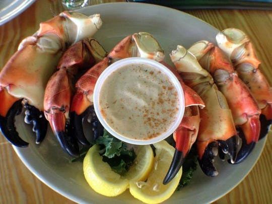 Stone crab claws are delicious on their own, but a little sauce never hurts.