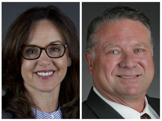 Sen. Lizbeth Benaquisto, R-Fort Myers, and Republican challenger Michael Dreikorn.