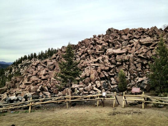 The Ringing Rocks between Butte and Whitehall sound like bells which lightly struck by a hammer.