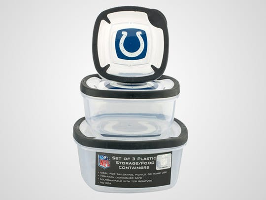 Colts plastic storage containers