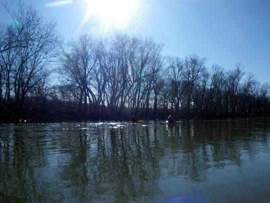 The banks of the White River West Fork  near Martinsville