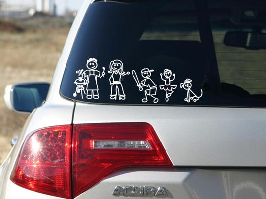 These stick figure decals have sparked controversy among police and safety organizations as to whether they provide criminals with too much information.