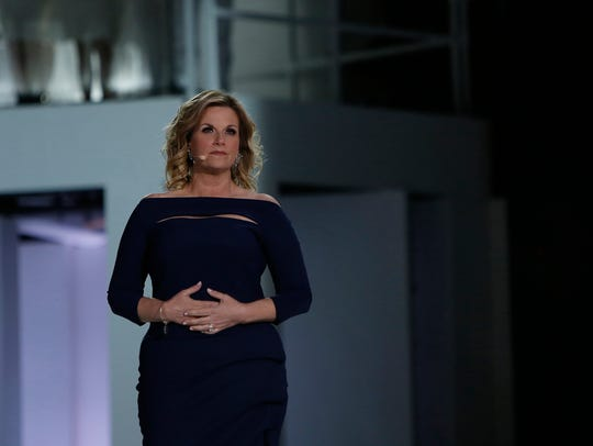 Trisha Yearwood portrays Mary during the rehearsal