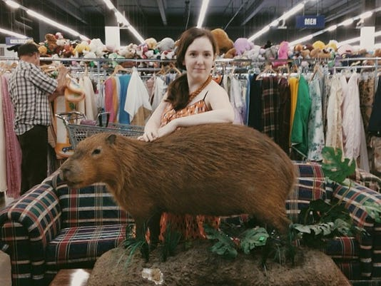 Beth meets the capybara