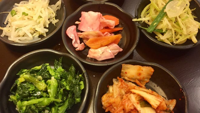 At Arario Korean Fusion in Midtown Reno, the banchan, or small side dishes, that come with meals include house kimchi and teriyaki potatoes.