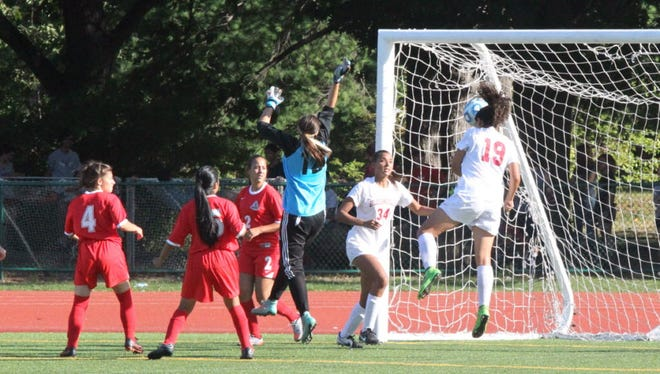 Anatalia Pena (34) and Melanie Rodriguez (19) received postseason honors for Bloomfield girls soccer.