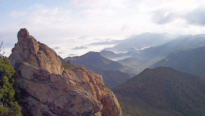 A view of marine fog from Boney Mountain along the Backbone Trail at 3,000 feet.