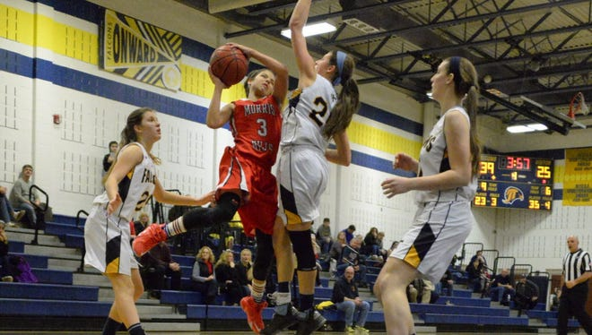 Morris Hills' Madison Perna (3) is tied for the team lead in scoring.