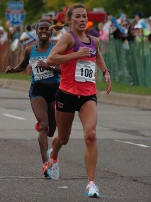 Michelle Lilienthal, at the 2014 Twin Cities Marathon.