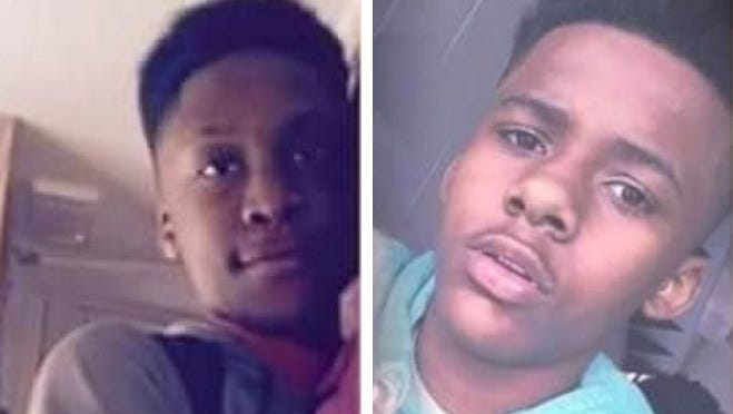 Demetrius Batchelor Jr. (left) and Latrey Lamont Hale (right), both 15, were killed in a car crash Friday in Milwaukee.