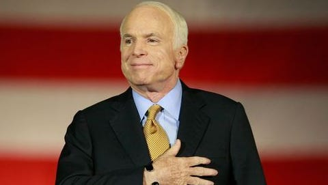 Sen. John McCain, R-Ariz., before he was diagnosed with an incurable form of brain cancer called glioblastoma, the same cancer that killed Senate colleague Ted Kennedy, D-Mass.