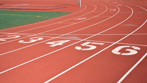 A stock image of a running track.