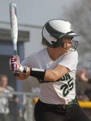 Madison's Morghan Russell readies herself at bat while