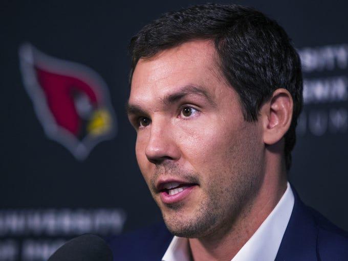 Newly-signed Arizona Cardinals quarterback Sam Bradford