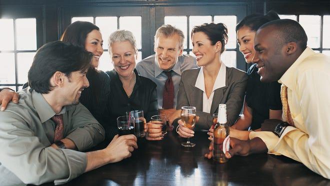 Businessmen and women.