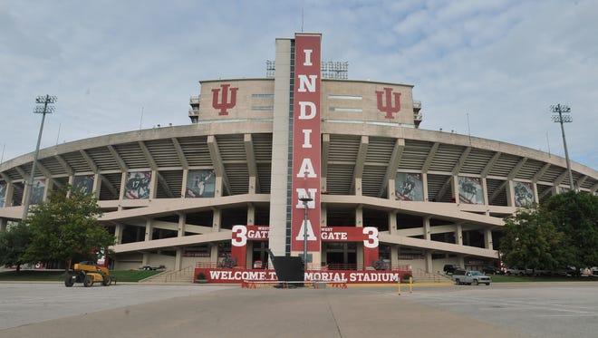 Exterior of Memorial Stadium at Indiana University.