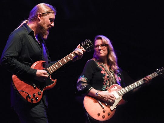 The founders of The Tedeschi Trucks Band: Husband-and-wife team Susan Tedeschi and Derek Trucks
