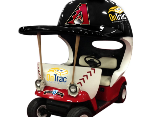 The Diamondbacks' bullpen cart.