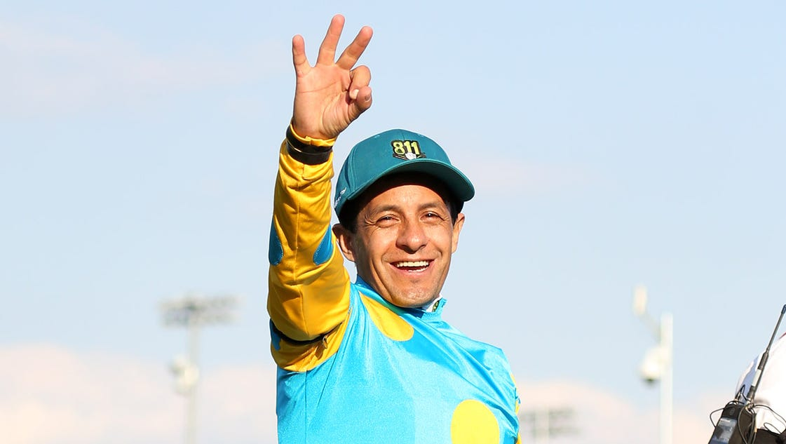 471998364 additionally Willie Shoemaker   Worth moreover Furious Mom Claims American Pharoah Jockey Engaged Daughter Despite Seen Town Kissing 19 Year Old Equestrian Blonde Beauty additionally California Chrome Wins The Kentucky Derby as well 2016 American Pharoah At Stud. on jockey victor espinoza