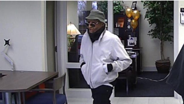 Police are looking for this man, wanted in connection to two bank robberies in Hendersonvnille Saturday, Feb. 10.