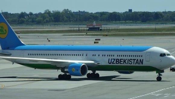 An Uzbekistan Airways aircraft at New York's JFK Airport