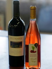 Two featured wines for Valentine's Day from Tomasello Winery at Wemrock Orchards in Freehold.