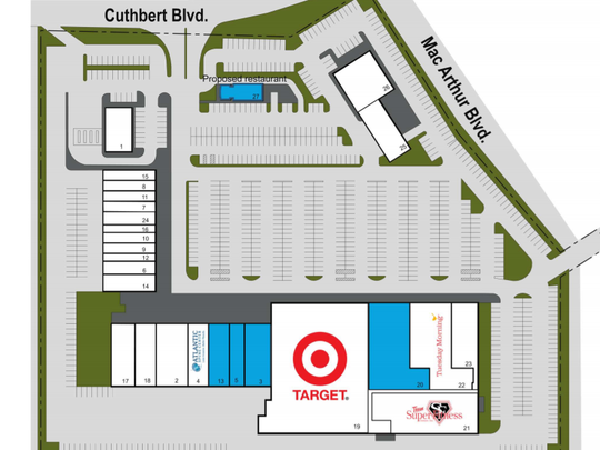 A planned Target mini-store will operate at the site of a former supermarket in Westmont Plaza.