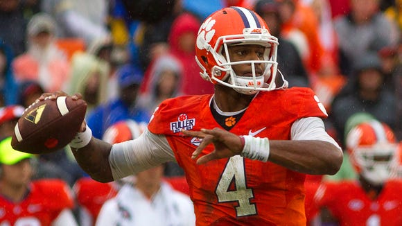 The play of Clemson quarterback Deshaun Watson is a major reason why the Tigers are No. 1 in the initial College Football Playoff rankings.