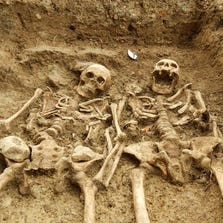 Archaeologists discovered skeletons which appear to be holding hands during an excavation at the Chapel of St. Morrell in Leicestershire, England, a site of pilgrimage in during the 14th Century.