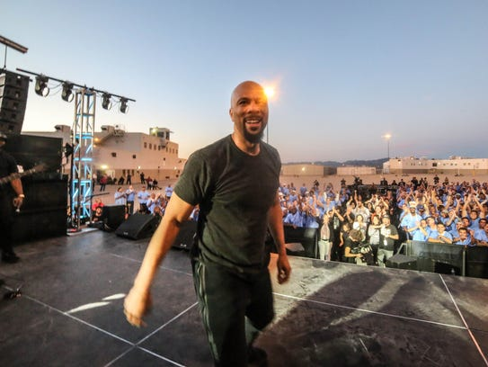 Common performs during his Hope and Redemption tour.