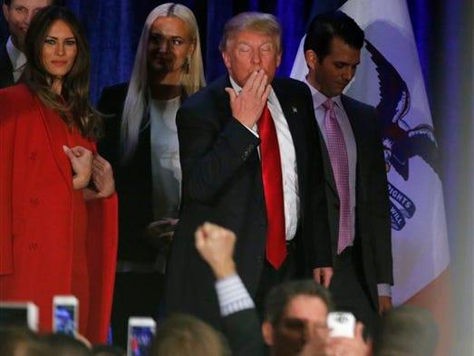 Republican presidential candidate, businessman Donald