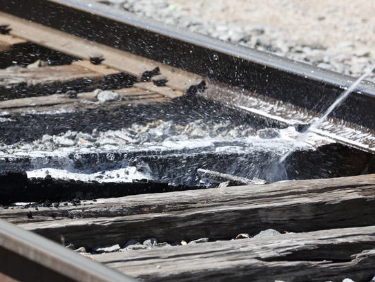 Manitowoc Fire Department responded to a railroad tie