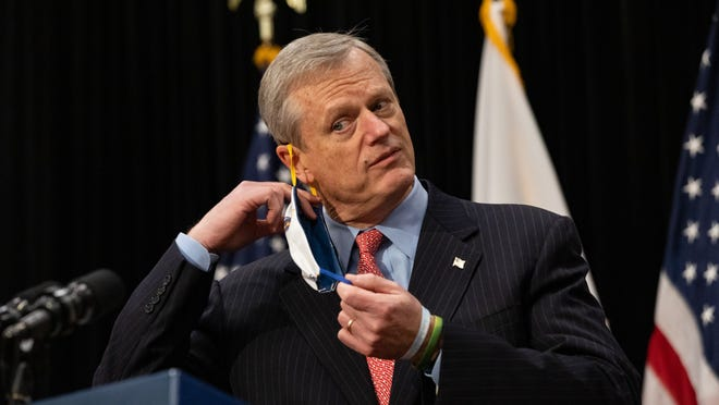 At a Monday, Nov. 2 news conference, Gov. Charlie Baker announced several new directives that take effect Friday, including mandatory face-coverings regardless of whether social distancing is practiced.