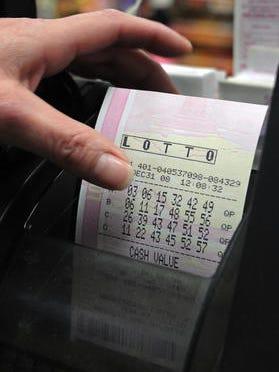 File photo of a NY lottery ticket.
