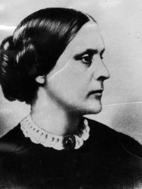 In 1872, suffragist Susan B. Anthony was fined $100 for attempting to vote in the presidential election for Ulysses S. grant, who won.