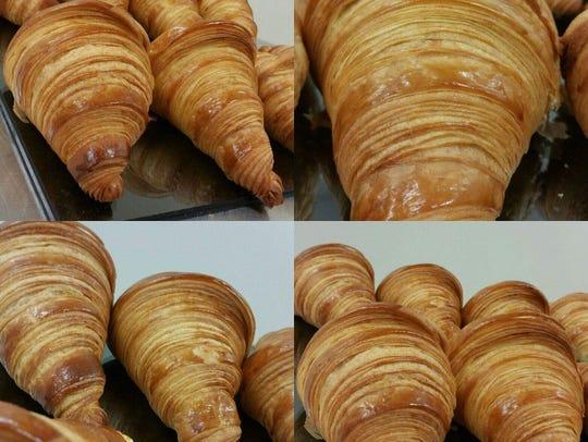 Fresh croissants at Pierre & Michel