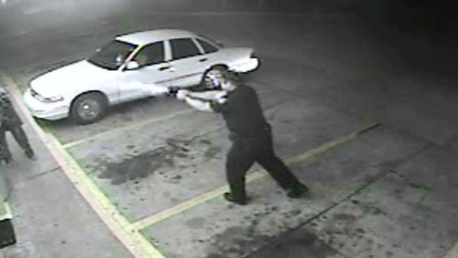 A video combines the views of two security cameras to show the Dec. 4 shooting of a homeless man by West Monroe Police officer Jody LeDoux.