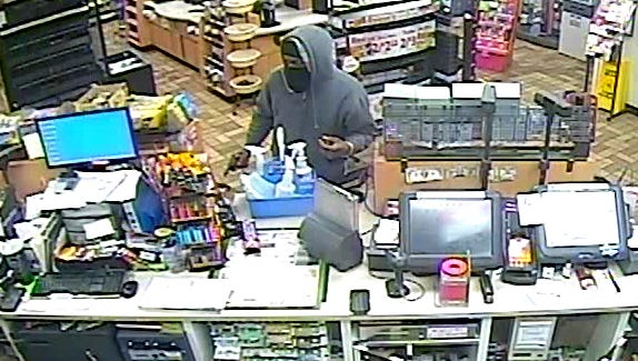 Pictured is a man who robbed a Waynesboro store early Saturday morning.