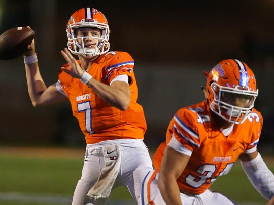 Central High School senior quarterback Cal Vincent (7) led the Bobcats to the Class 6A Division I regional semifinals and a 12-1 record in 2016.