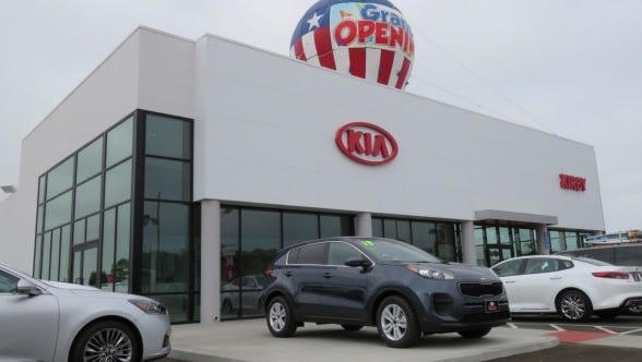 The newly redesigned Kirby Kia of Ventura is at 6424 Auto Center Drive in  Ventura.